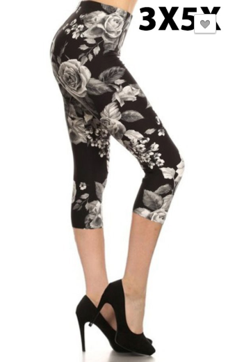 Black Rose EPS 3x-5x Capri Legging