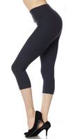 Charcoal EPS 3x-5x Capri Legging