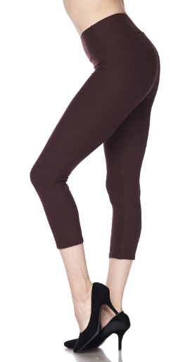 Brown PS Capri Legging