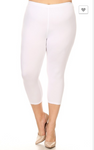 White OS Capri Legging - Yoga Band