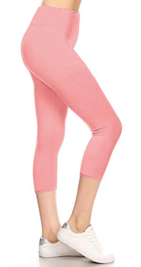 Pink PS Capri Legging - Yoga Band