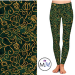 Custom Emerald Filigree OS Legging