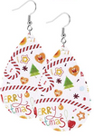 Merry Christmas Teardrop Earring
