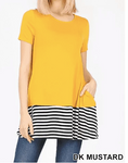 Mustard Tunic - Ladies Top Size L