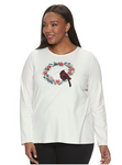 Cardinal Long Sleeve Crewneck Top 4X