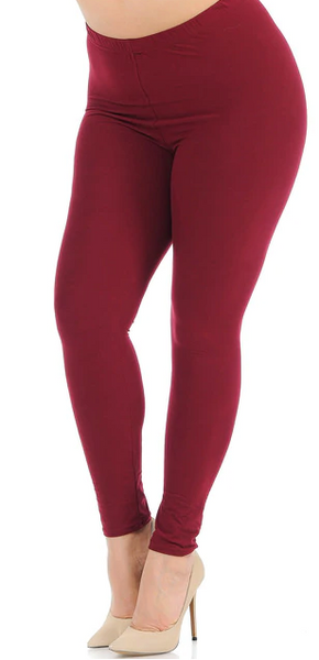 Burgundy PS Legging