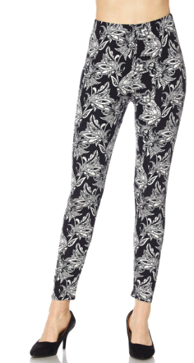 Black Midnight Flower PS Legging