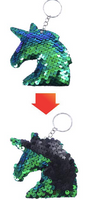 Sequin Keychain - Unicorn Two Toned