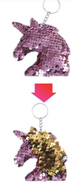Sequin Keychain - Unicorn Two Toned Light Pink