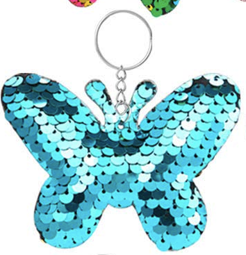 Sequin Keychain - Butterfly