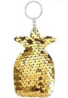 Sequin Keychain - Gold Pineapple