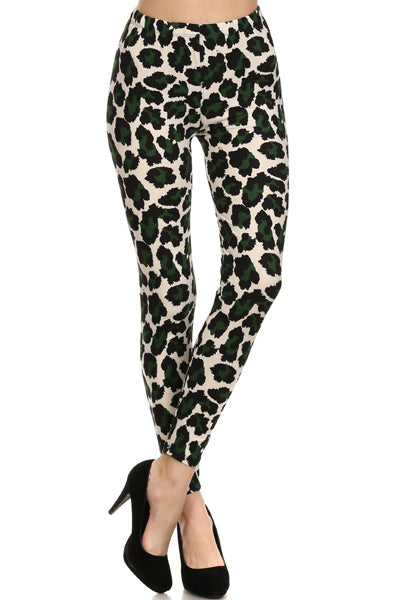 Animal Beige and Green OS Legging