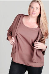 Brown Curvy Top