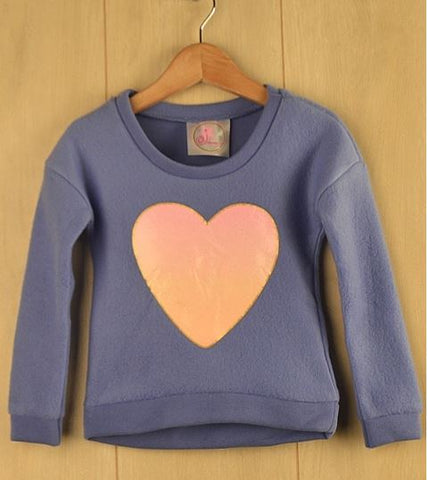 Girls Heart Fleece Top