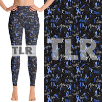 Custom Blue Ribbon OS Legging