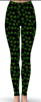 Custom Shamrock Print Leggings