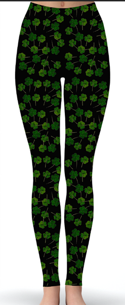 Shamrock Print Leggings