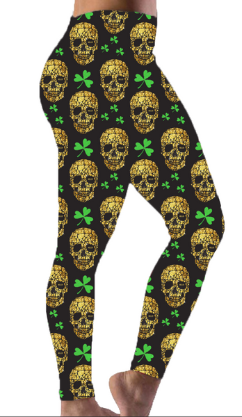 Lucky Skulls Print Leggings