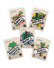 Microgreens Seeds Kit – 100% Non GMO - Broccoli, Radish, Peas, Spicy and Mild Mix for planting and sprouting indoor