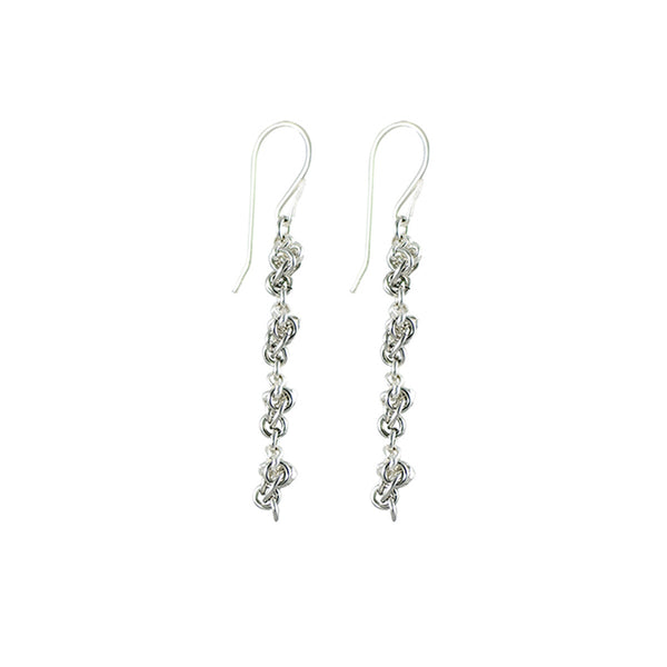 Faceted Beads Sterling Earrings