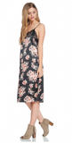 Rose Satin Slip Dress  modest clothing Minneapolis, MN