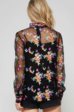 Allover Floral Embroidery