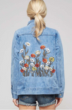 Floral Patch Denim Jacket  modest clothing Minneapolis, MN