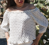 The White Polkadot Blouse modest clothing Minneapolis, MN