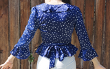 Deep Blue Star Blouse modest clothing Minneapolis, MN