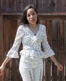 White Star Ruffle Blouse modest clothing Minneapolis, MN