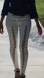 High Waist Lace-up Pencil Pants modest clothing Minneapolis, MN