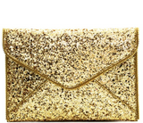 Allover Glitter Accent Envelope Clutch:Airy Floral Red Dress,modest clothing Minneapolis, MN