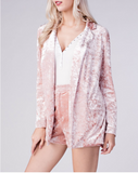 Suit Me Up Velvet Pink Blazer