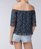 Paisley Off The Shoulder Blouse