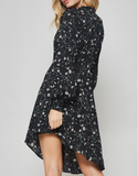 Daisy Black Floral Dress