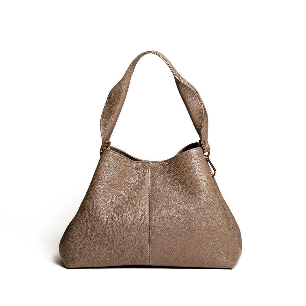 Nyx Low Bucket Bag - taupe