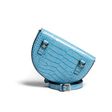 Belt Bag Convertible - Kroko blau