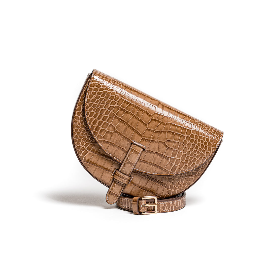 Belt Bag Convertible - Kroko mocca