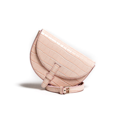 Belt Bag Convertible - Kroko rosa