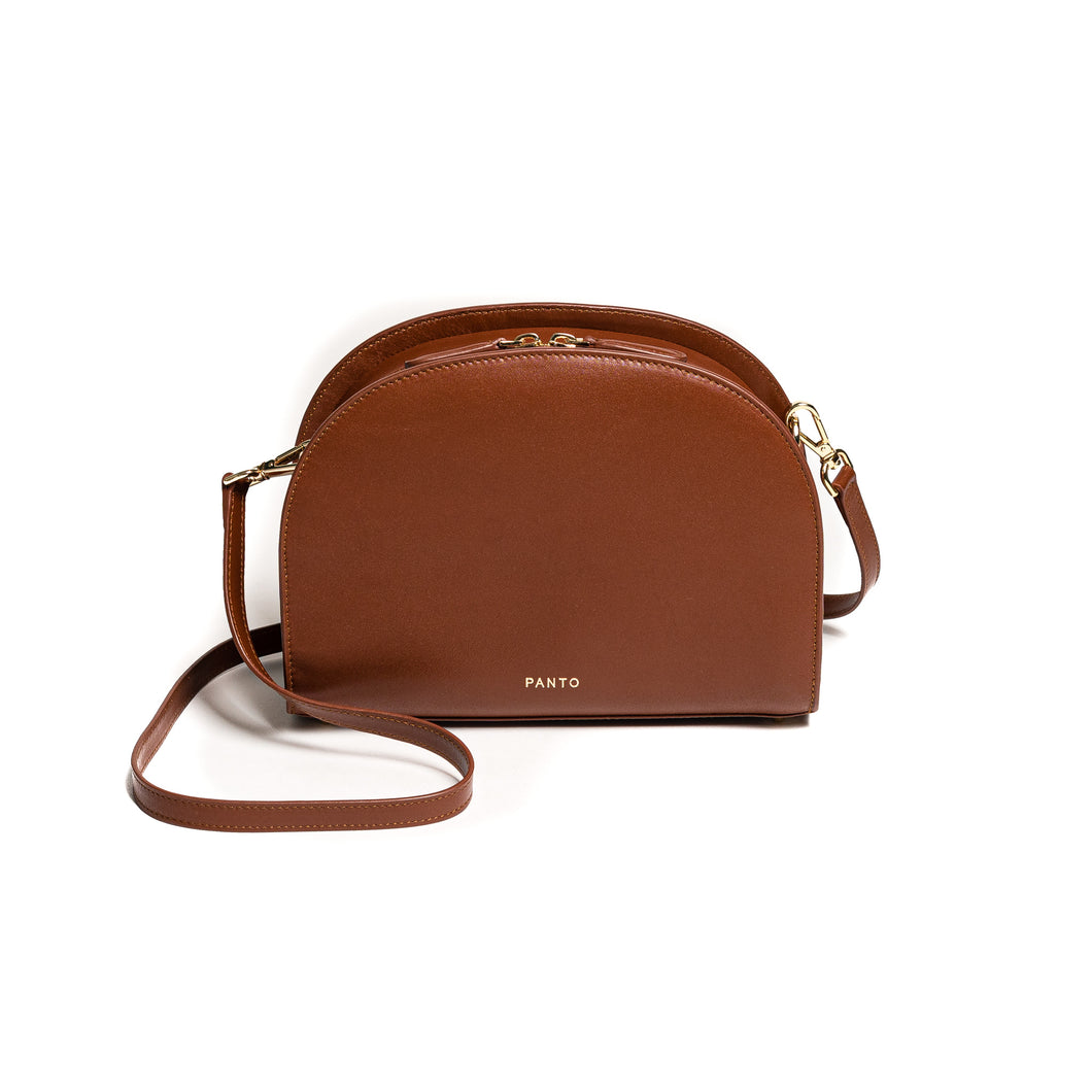 Half Moon Bag cognac