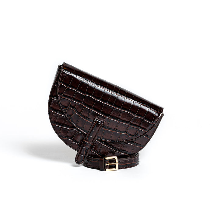Belt Bag Convertible - Kroko braun