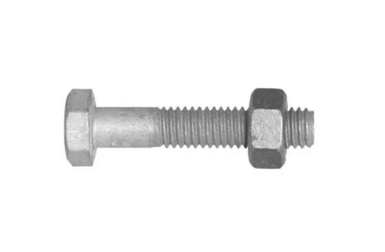 Bolt and Nut 8mm x 75mm (Hex Head)