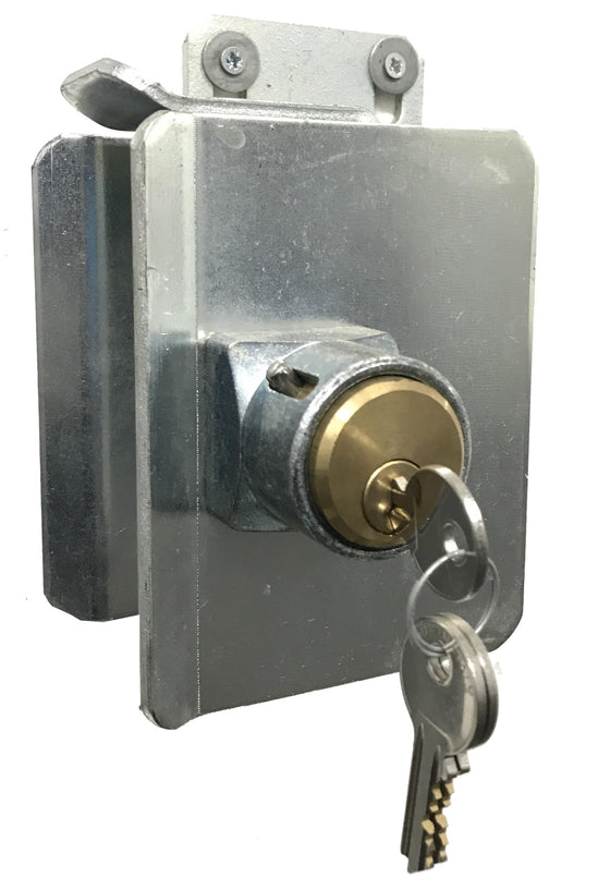 Sliding Gate Galvanized Steel Closing Catcher Bracket With Key Lock