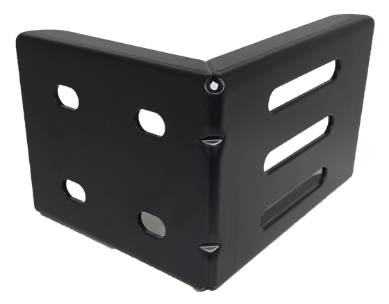 L-Angle Plate For Sliding Gate Catcher Bracket Powder Coated in Black