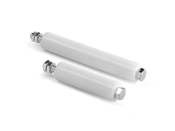 Sliding Gate White Guiding Nylon Roller 247mm x 40mm dia With M16 Rod