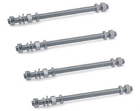 Set Of 6 Threaded Rods For Fixing Support Cantilever Gate Carriages XL