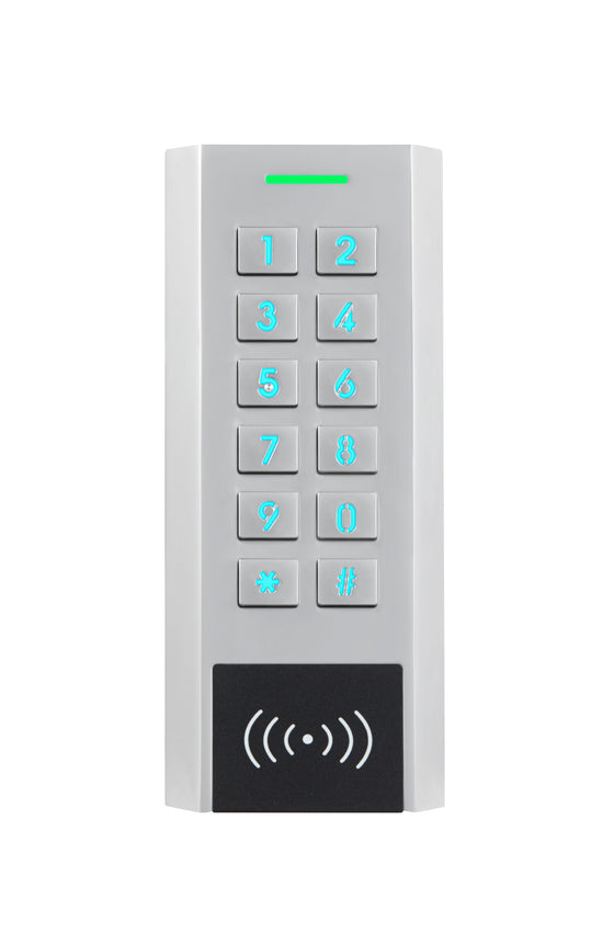 Hardwired Outdoor Metal Digital Keypad with Card reader