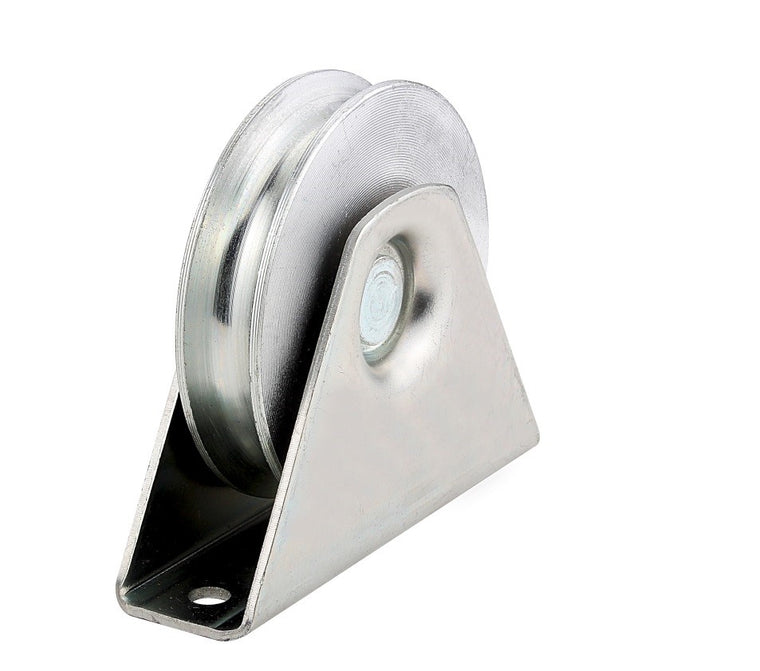Sliding gate Wheel - 16mm U Groove, 50mm Wheel With External Bracket