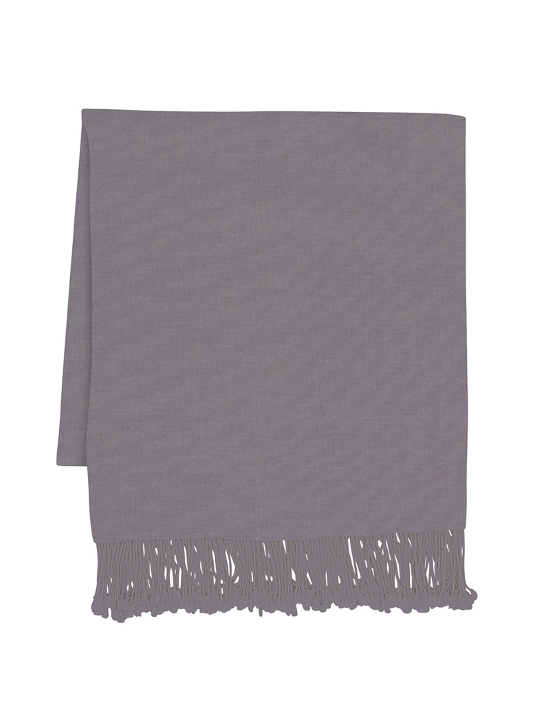 Grey Amir Cashmere Throw