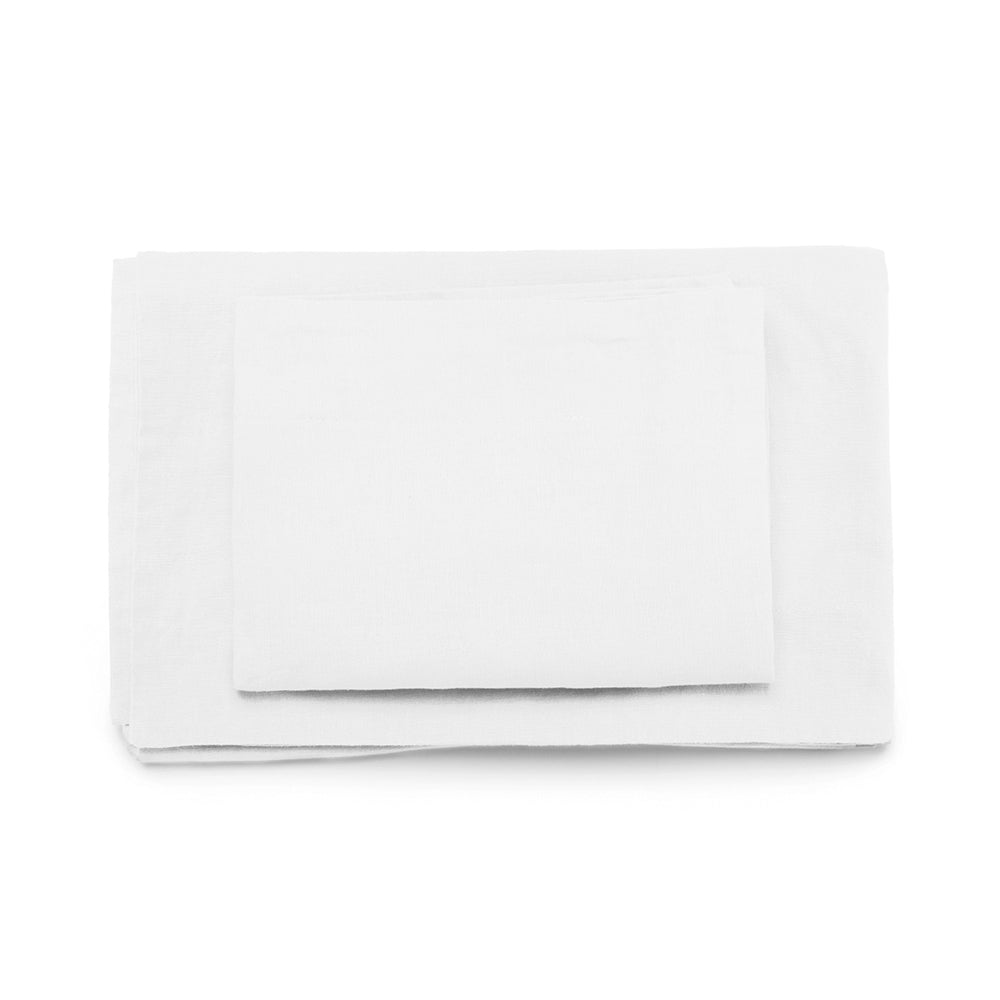 White Hampshire Linen Sheet Set